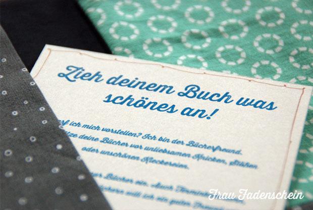 Zieh' deinem Buch was schönes an!